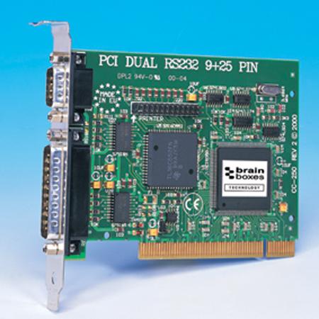cc 250 pci dual rs232 9x25 pin