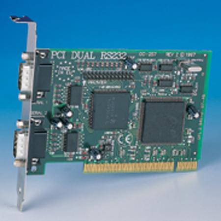 cc 257 pci dual rs232 twin 9 connectors