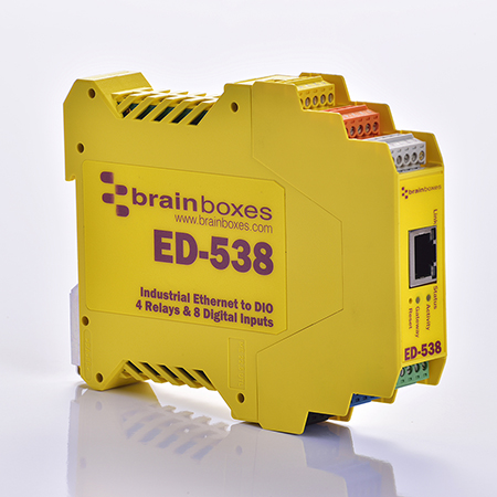 ed 538 ethernet to 4 x relay 8 digital inputs