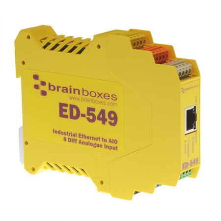 ed 549 ethernet to 8 analogue input