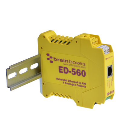 8 Differential chs BRAINBOXES ED-549 Brainboxes Ethernet to Analogue 8 Inputs + RS485 Gateway Connect All Types of sensors 0-10V and 4-20mA inputs Individually configurable