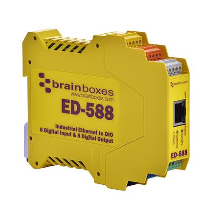 ed 588 ethernet to 8 digital inputs 8 digital outputs