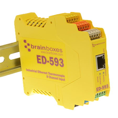 ed 593 ethernet to 8 channel thermocouple input