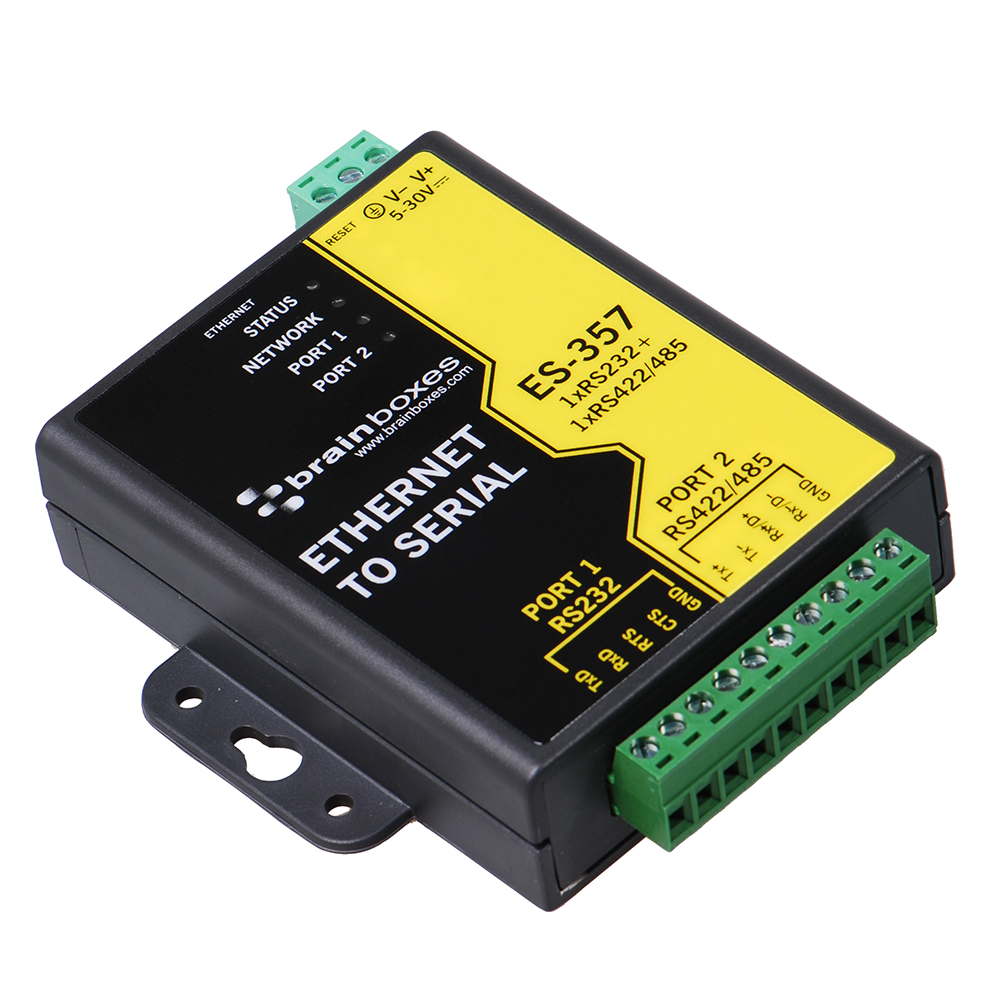1 Port Rs232 And Rs422 485 Ethernet To Serial Adapter Es Poi Wall Jack Wiring Rs 232 422
