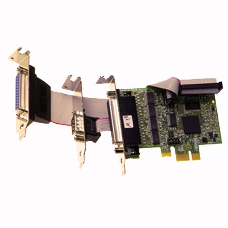 px 272 lp pcie 4 1xrs232 1xlpt printer port