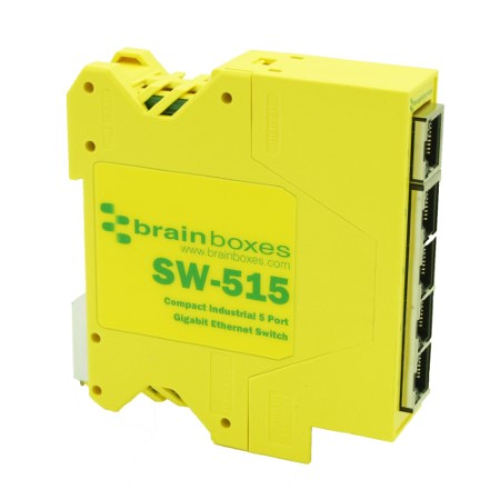 Compact Industrial 5 Port Gigabit Ethernet Switch =