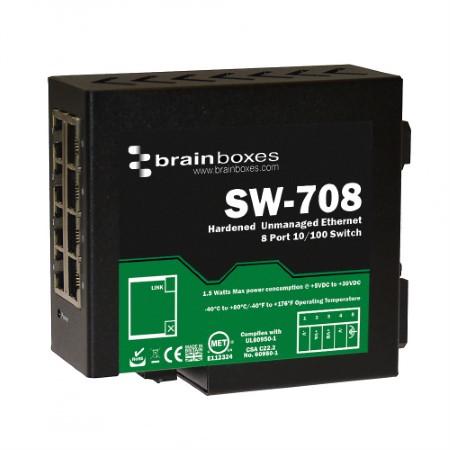Industrial Hardened 8 Port Ethernet Switch =