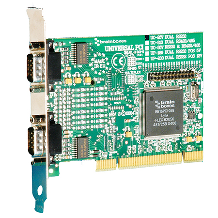 2 Port RS232 PCI Serial Port Card - UC-257 - Brainboxes