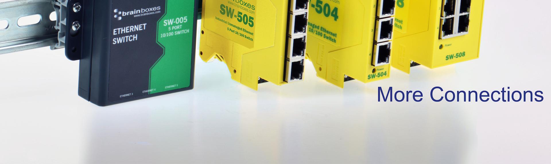 Brainboxes Industrial Ethernet Switch Range