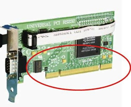 Universal PCI card, both key ways, therefore compatible with both 3.3V and 5V PCI slot