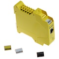 Ethernet to Serial Server can be easily rewired as the blocks and ports are colour coded