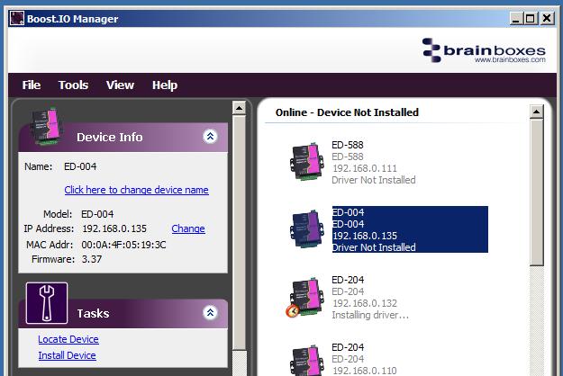 Boost.IO Install Virtual Com Port for Remote IO