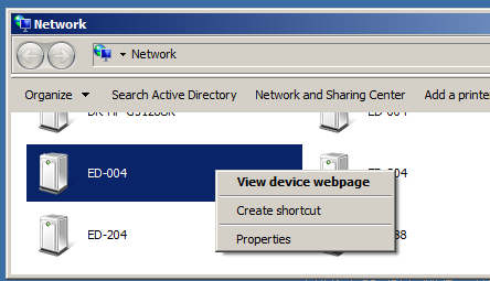 View ED Devices in Windows Network Window