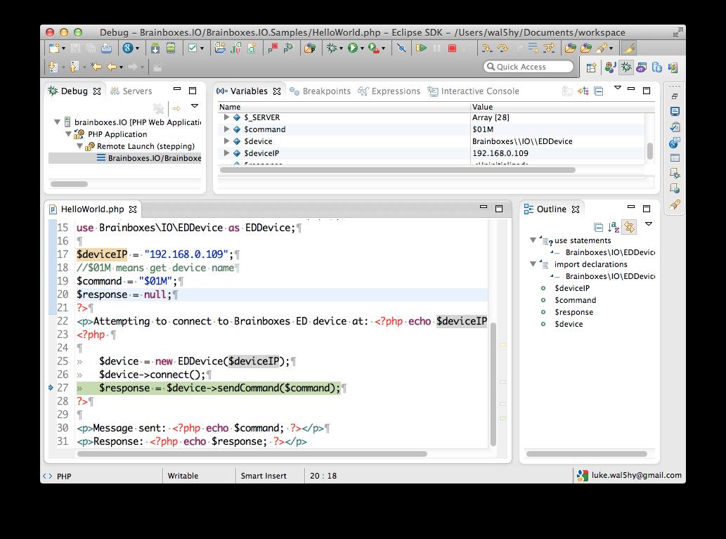 Brainboxes.IO PHP API Example code