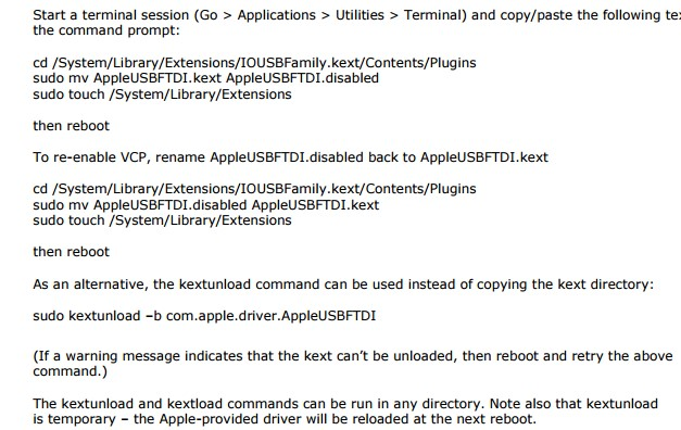 How do I install US drivers on OSX? - Brainboxes