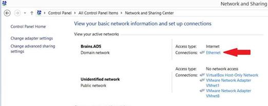 Network Sharing Center Windows