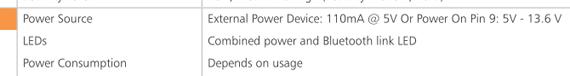 B:-819 and B:-830 datasheet power consumption