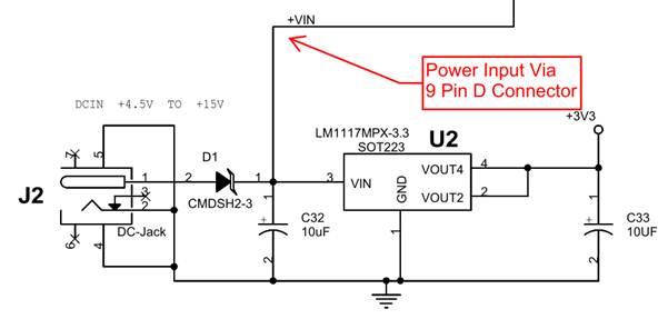 Brainboxes BL-819/830 power input circuitry